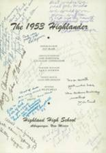 Highland High School Class of 1953 Reunions - Yearbook Page 4
