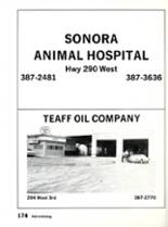 1984 Sonora High School Yearbook Page 178 & 179