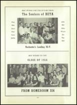 1956 Monroe High School Yearbook Page 110 & 111