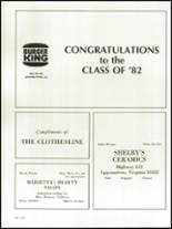1982 Appomattox High School Yearbook Page 144 & 145